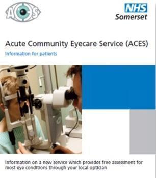 Acute Community Eyecare Service for Somerset leaflet