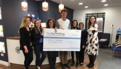 Award cheque from Thea pharmaceutical
